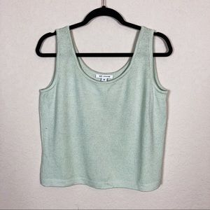 St. John | mint green knit tank top